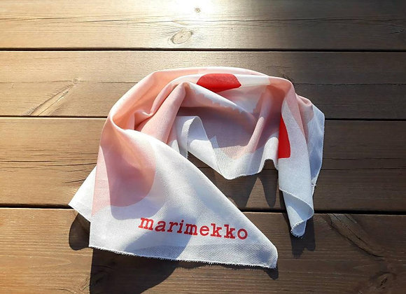 Coral neck scarf from Marimekko fabric Unikko