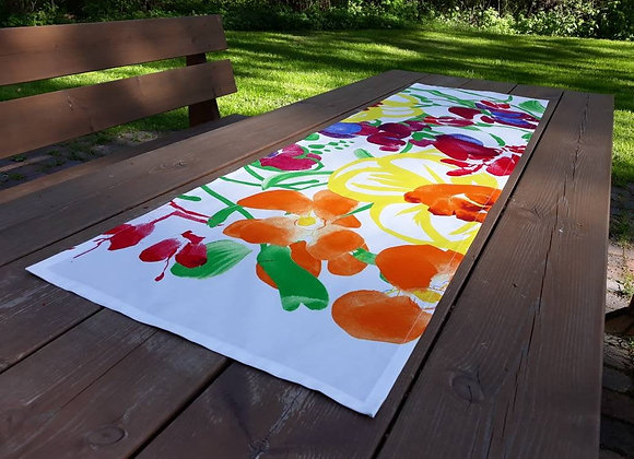 Modern colorful table runner from Marimekko fabric Ursula