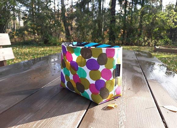 Waterproof polka dot basket from Marimekko fabric
