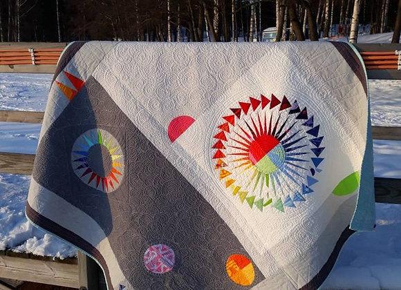 Modern New York Beauty lap quilt from Marimekko fabric