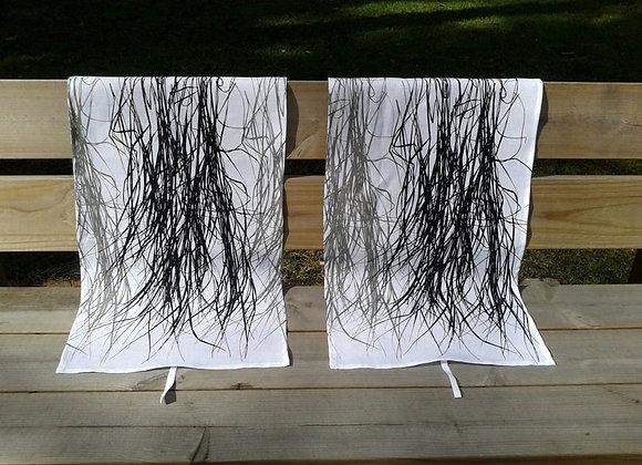 Linen tea towel from Marimekko fabric Heinä