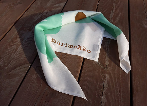 Turquoise neck scarf from Marimekko fabric Unikko