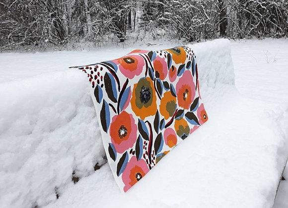 Cotton waffle tea towel from Marimekko fabric Rosarium