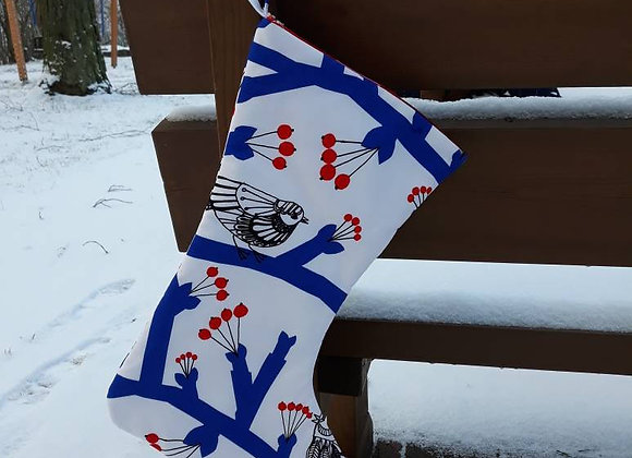 Christmas stocking from Marimekko fabric Pikkupakkanen