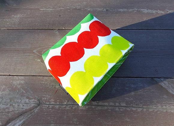 Colorful waterproof basket from Marimekko fabric Räsymatto