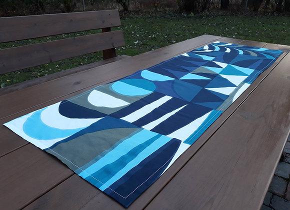 Blue table runner from Marimekko fabric Kuun Säde