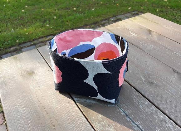 Small basket from Marimekko fabric Unikko