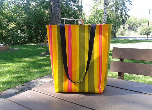Striped tote bag from Marimekko fabric