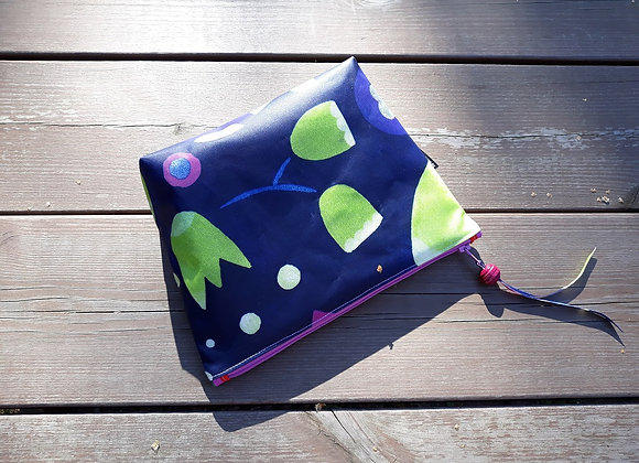 Waterproof zipper pouch from Marimekko oilcloth fabric