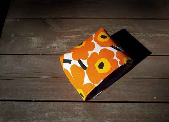 Waterproof basket from Marimekko fabric mini Unikko