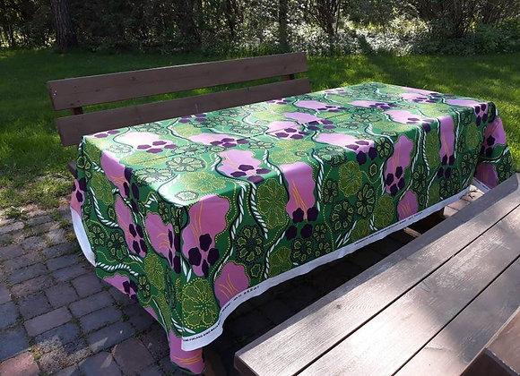 Green summer tablecloth from Marimekko fabric Helmikkä