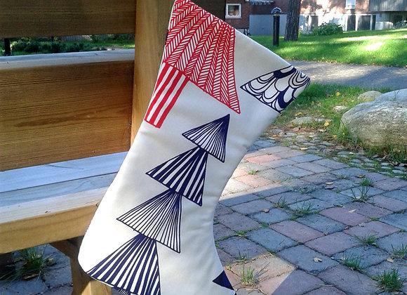 Christmas stocking from Marimekko fabric Kuusikossa