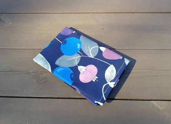 Blueberry cloth napkins from Pentik fabric Mustikkametsä