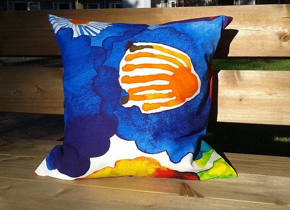 Colorful pillow cover from Marimekko fabric Juhannustaika