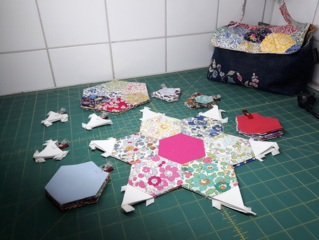 Secrets to productivity in English paper piecing