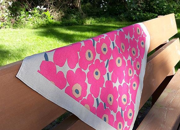 Pink neck scarf from Marimekko fabric mini Unikko