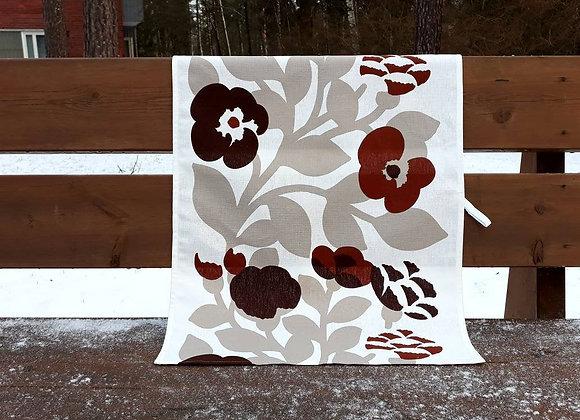 Linen tea towel from Marimekko fabric