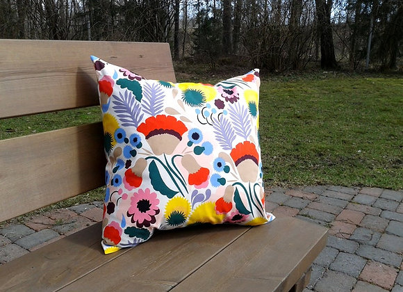 20 inches Floral pillow cover from Marimekko fabric Pikkukellukka