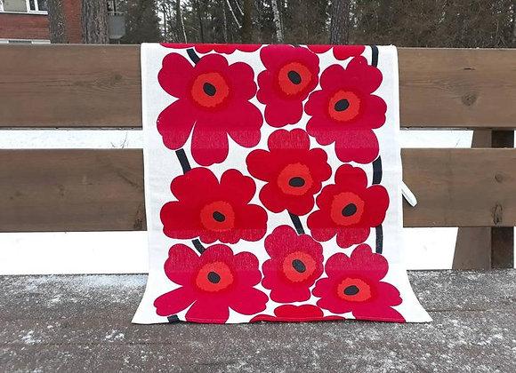 Linen tea towel from Marimekko fabric Unikko