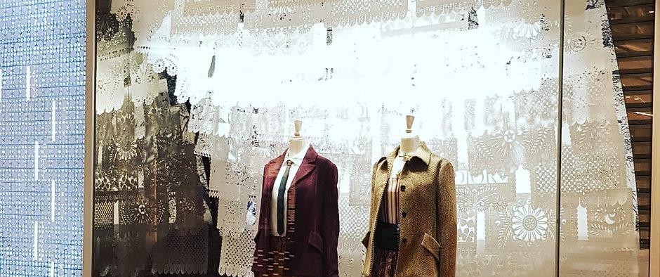 Dior Cruise Window DIOR COUTURE Papel Picado