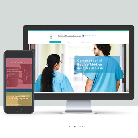 Sitio web Jiménez Comercializadores