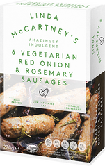 Red Onion & Rosemary Sausages