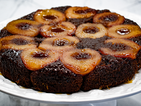 Pear Ginger Upside Down Cake | Step-By-Step Guide to baking your own