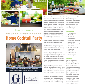 How to Throw a Social Distancing Home Cocktail Party