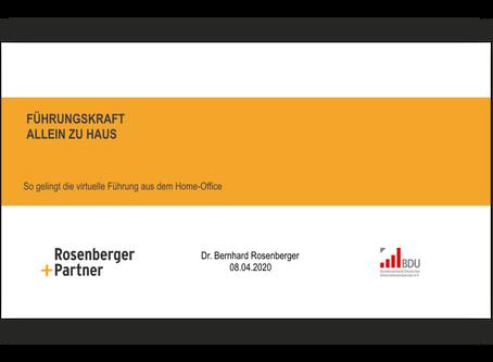 """Online-Seminar """"Führungskraft allein zu Haus"""""""