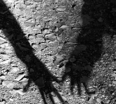 Nacht des Weines – lange Schatten erzählen in dunkler Nacht