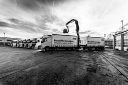 Lastkran für Lieferung auf Baustelle