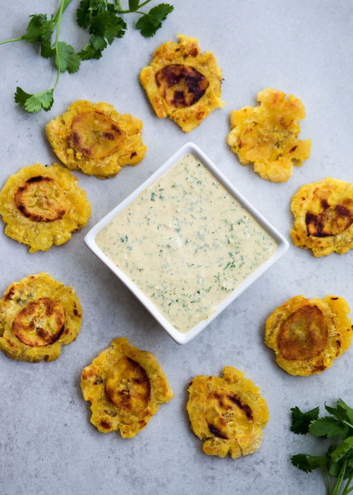 Tostones with Chimichurri Aioli