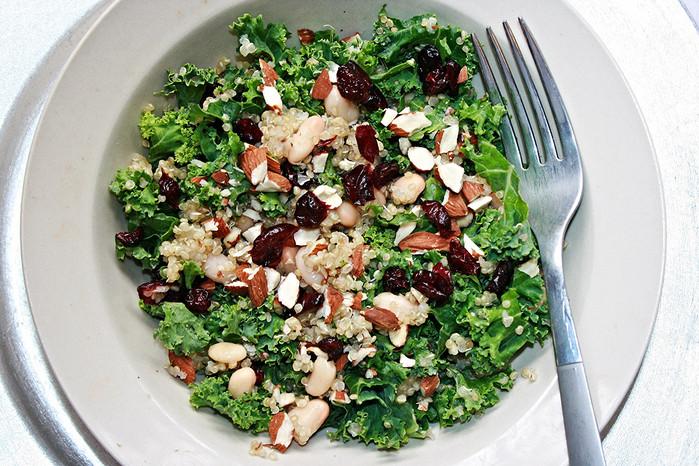 Kale, Quinoa, Cranberry Salad