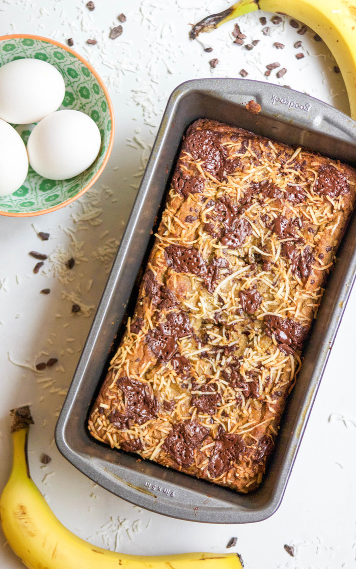 Paleo Coconut & Chocolate Banana Bread