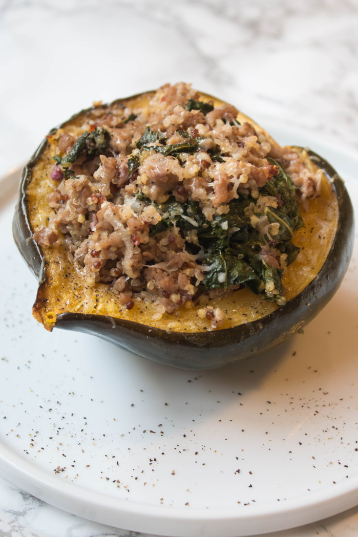 Stuffed Acorn Squash with Apple Cider Vinaigrette