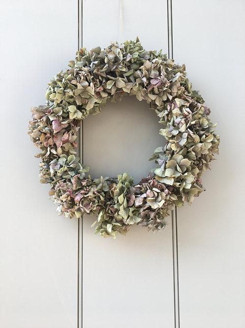 Dried Hydrangea Wreath