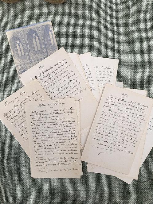 French Letter & Documents - M. Le Curé