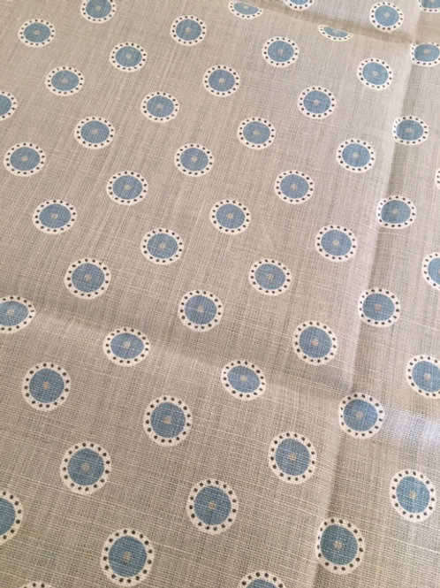 Fabric Remnant Pretty Maids (Pigeon/Teal)
