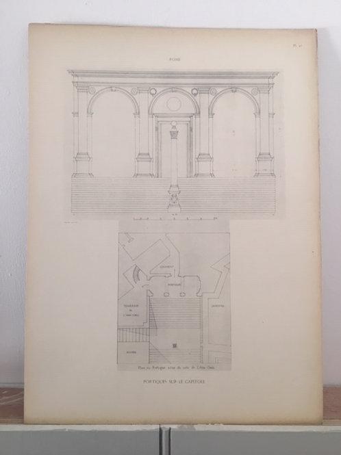 Rome - Portiques sur le Capitole
