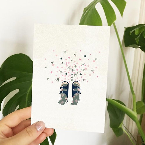 Flower Feet Greeting Card