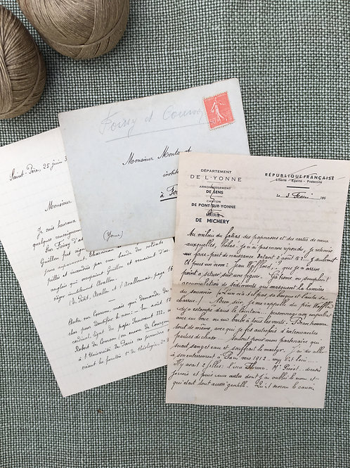 French Letter & Documents - M. Montenot