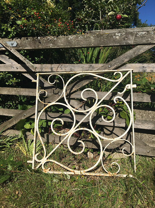 Pretty White Decorative Wrought Iron Gate