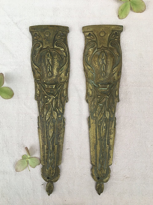 A Pair of Vintage French Gilt Mouldings