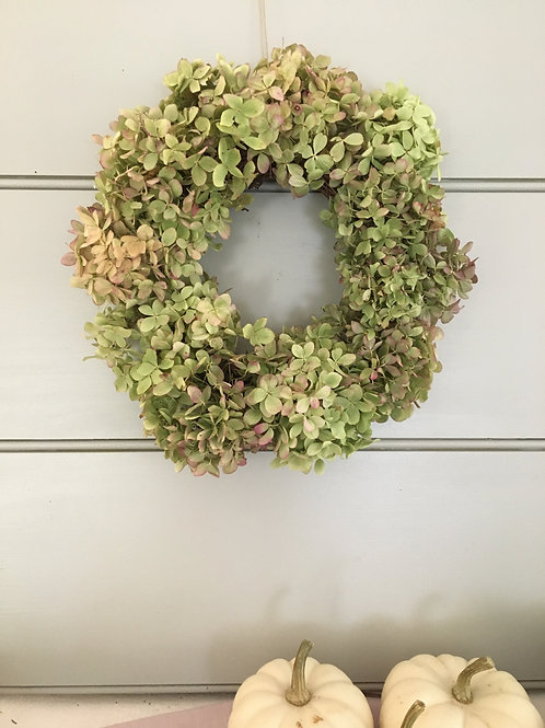Dried Hydrangea Wreath - Limes
