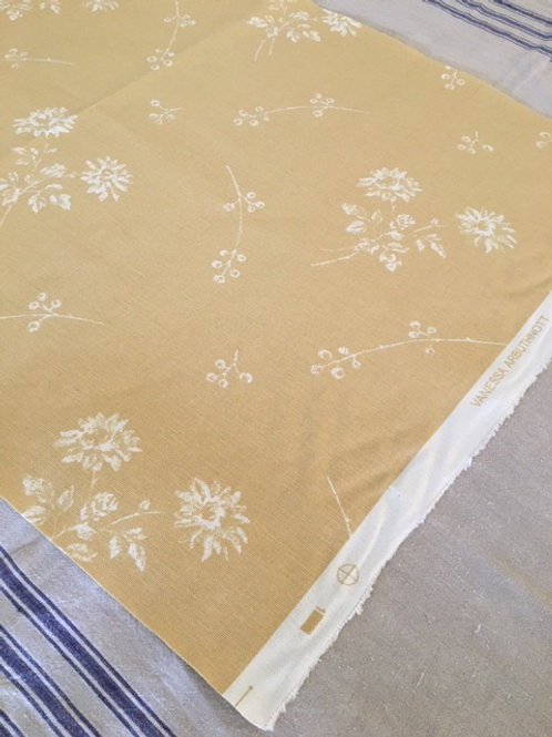 French Floral Fabric Remnant (Straw)