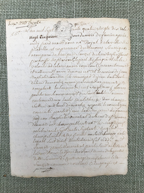 French Notary Document 1790