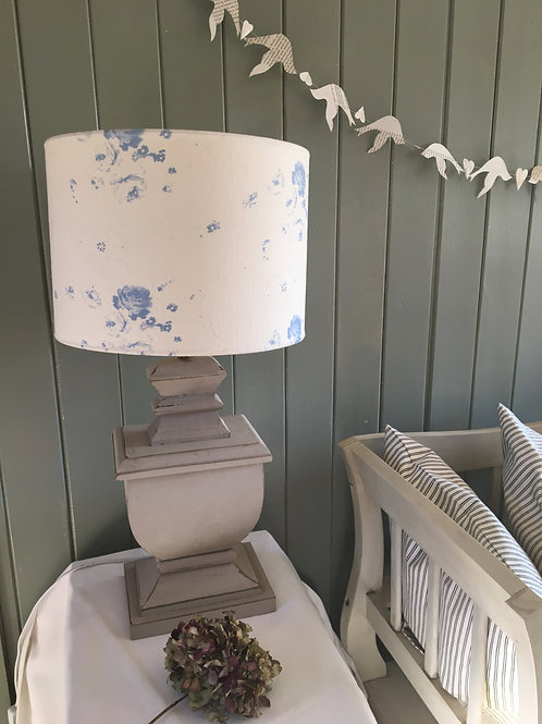 Cabbages & Roses Blue Podge Lampshade