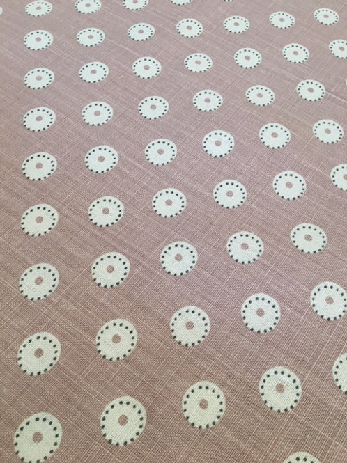 Pretty Maids Fabric Remnant (Dusky Pink)