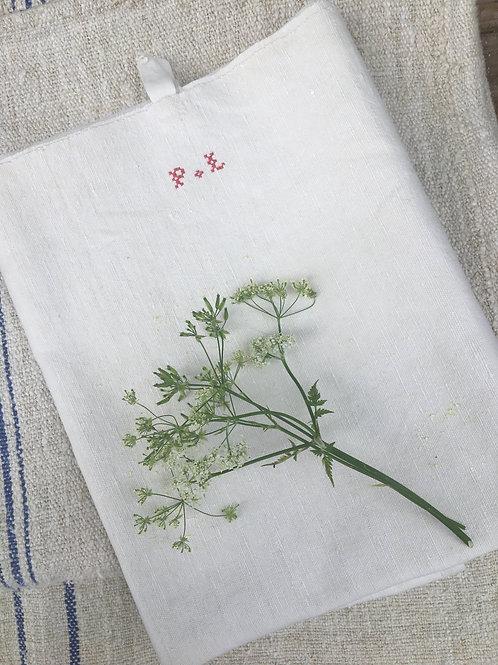 Linen Runner with Monogram P L
