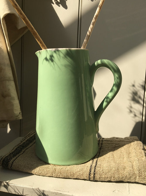 Pretty Green Ironstone Jug